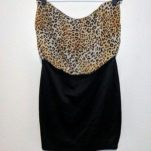 Black/Leopard Dress